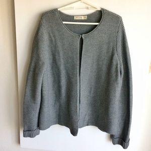Faded Glory Gray Knit Cardigan Sweater Size 20